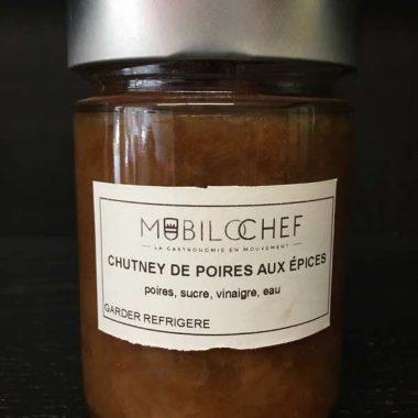 chutney poire épice