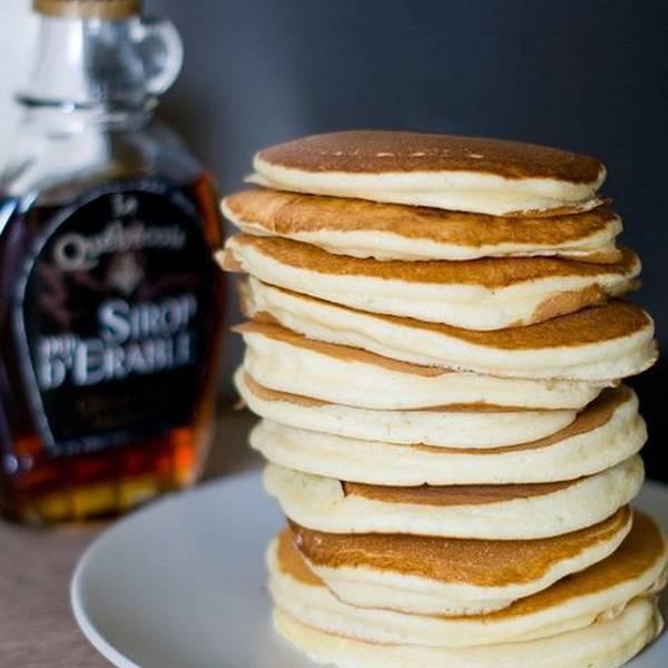 Verrine de pancake au sirop, crème à l'érable