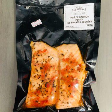 sous-vide saumon pesto