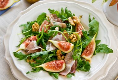 Salades figues proscuitto