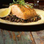 saumon lentilles