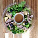 salade de canard et bleuets